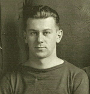 Herbert Huebel - Photograph of Huebel cropped from 1912 Michigan Wolverines football team portrait