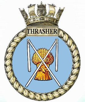 HMS Thrasher (N37) - Image: Hms thrasher n 37 submarine badge
