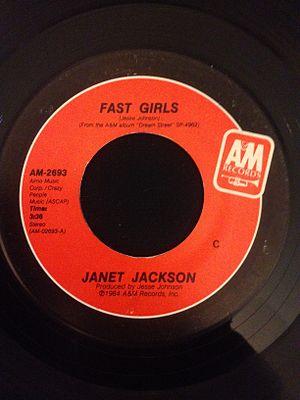 Fast Girls (song) - Image: Janet Jackson Fast Girls 45rpm Vinyl