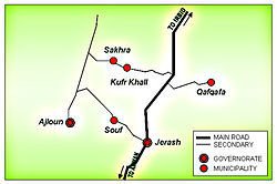 Location of Kufr Khall