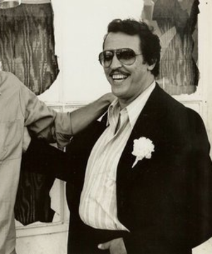 Joe Spinell - Spinell on the set of The Godfather (1972).