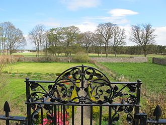 George Beattie (poet) - Walled Garden at the House of Kinnaber