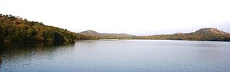 Gir Forest National Park - A panorama of the reservoir