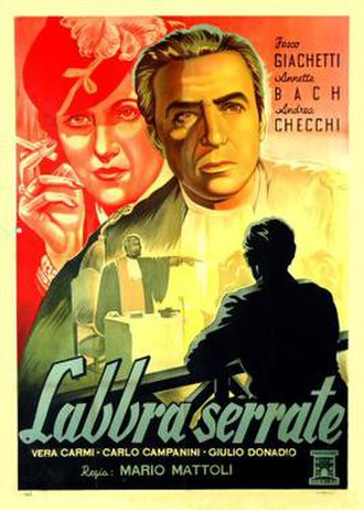 Labbra serrate - Italian theatrical release poster