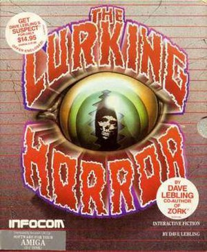 The Lurking Horror - Amiga cover art for The Lurking Horror
