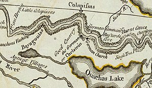 Historic regions of the United States - A 1775 map of the German Coast, a historical region of present-day Louisiana located above New Orleans on the eastern bank of the Mississippi River
