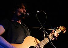 Mitch Grainger performing at The Basement, Sydney in 2008.jpg