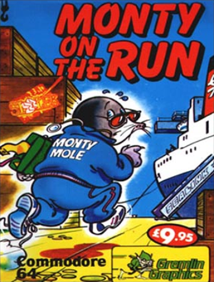 Monty on the Run - Commodore 64 cover art