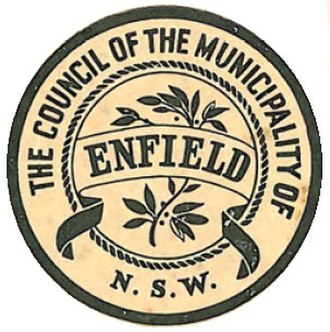 Municipality of Enfield (New South Wales) - Image: Municipality of Enfield Seal 5 June 1937