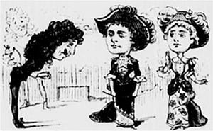 Nell Gwynne (operetta) - 1884 press drawing of Nell Gwynne