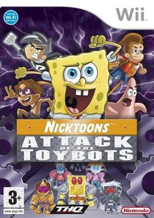Nicktoons: Attack of the Toybots - European cover art for Wii