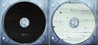 Campaign timeline of Year Zero - The two states of the Year Zero CD: black when cooled, white when heated.