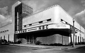 "KOMO (AM) - KOMO Radio/TV's former broadcast facility photographed circa 1948-1959. Note the ""NBC Affiliate"" script on the facade."