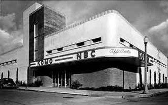 "KOMO (AM) - KOMO Radio/TV's former broadcast facility photographed circa 1948-1959. Note the ""NBC Affiliate"" script on the facade."