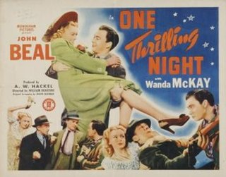 <i>One Thrilling Night</i> 1942 film by William Beaudine
