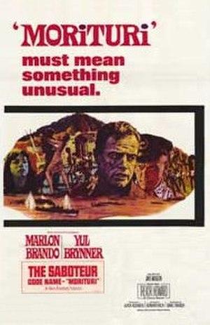Morituri (1965 film) - original movie poster