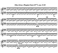 John Adams, ''Phrygian Gates, mm 21-40 (1977)