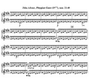 John Adams (composer) - John Adams, Phrygian Gates, mm 21–40 (1977)