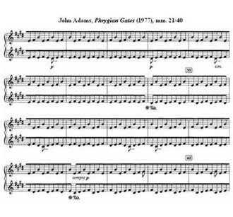 John Adams (composer) - John Adams, Phrygian Gates, mm 21–40 (1977)