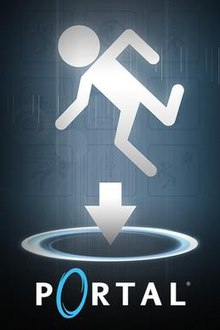 The box art for the PC version of Portal