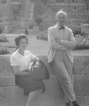 Roberto Weiss - Roberto Weiss in Rome with his sister