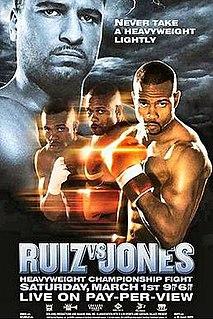 John Ruiz vs. Roy Jones Jr. Boxing competition