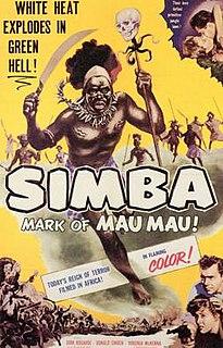 <i>Simba</i> (1955 film) 1955 film by Brian Desmond Hurst