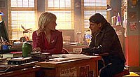 Trent Ford (right) as Mikail Mxyzptlk in Smallville Season 4 episode Jinx
