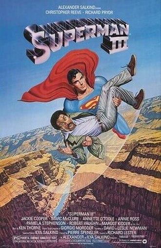 Superman III - Theatrical release poster by Larry Salk