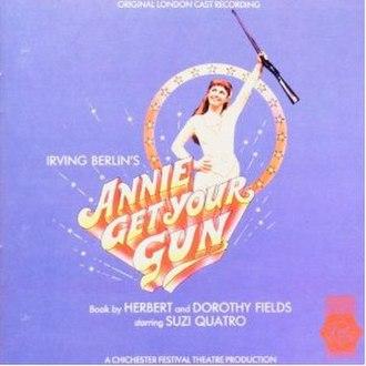 Annie Get Your Gun – 1986 London Cast - Image: Suzi Quatro Annie Get Your Gun album cover