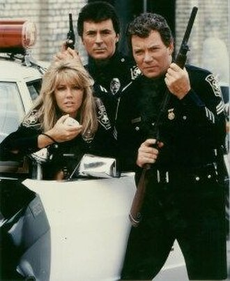 T. J. Hooker - James Darren, William Shatner and Heather Locklear in a fifth season publicity shot.