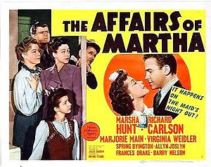 The Affairs of Martha - Lobby card