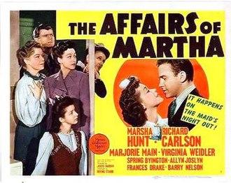 The Affairs of Martha - Lobby card