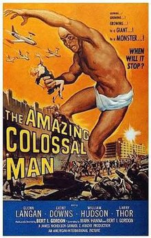 Image result for THE AMAZING COLOSSAL MAN ( 1957 ) POSTER