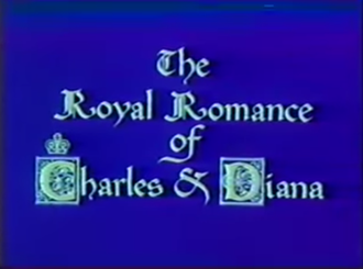The Royal Romance of Charles and Diana - Title screen from movie