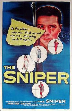 The Sniper (1952 film) - Theatrical release poster