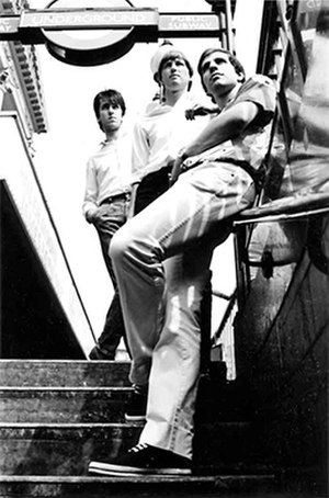 The Times (band) - The Times, circa 1983. From L to R, John East, Simon Smith and Ed Ball. Photo by Ray Kent