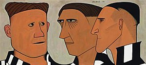 Three of the Players - Image: Three of the Players John Brack (1953)
