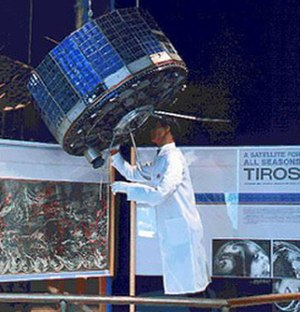 TIROS-1 - Tiros I prototype on display at the Smithsonian National Air and Space Museum.
