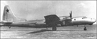 Tupolev Tu-80 Prototype for a longer-ranged version of the Tu-4 bomber