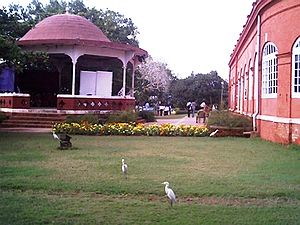 Culture of Thiruvananthapuram - Kanakakkunnu Palace Compounds is a popular hang-out place of people of Thiruvananthapuram