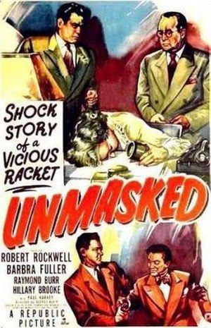 Unmasked (1950 film) - Theatrical release poster