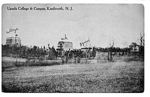 Upsala College - In its early years, Upsala College was invited to build its campus in Kenilworth, New Jersey (seen here, circa 1906) where it operated for 25 years before moving to East Orange in 1924.