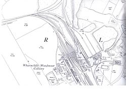 Overview of the colliery circa 1932.
