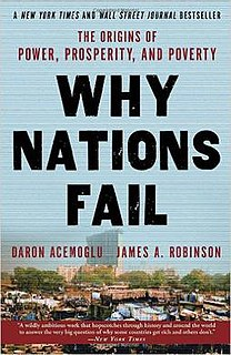 <i>Why Nations Fail</i> book by Daron Acemoğlu