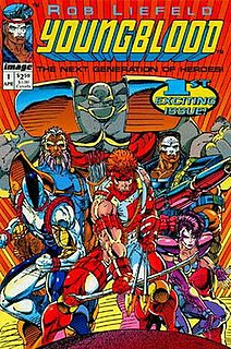 Youngblood (comics) Superhero team that starred in their self-titled comic book