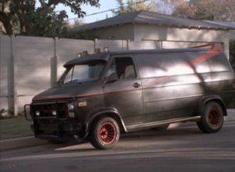 "B. A. Baracus - The A-Team van as shown in the episode ""Say It With Bullets""."