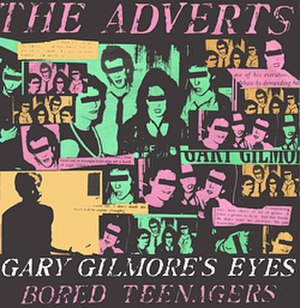 "The Adverts - Original UK 45 rpm single picture cover: The Adverts ""Gary Gilmore's Eyes"" (original Anchor release)"