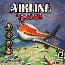 The jewel case cover art for Airline Tycoon