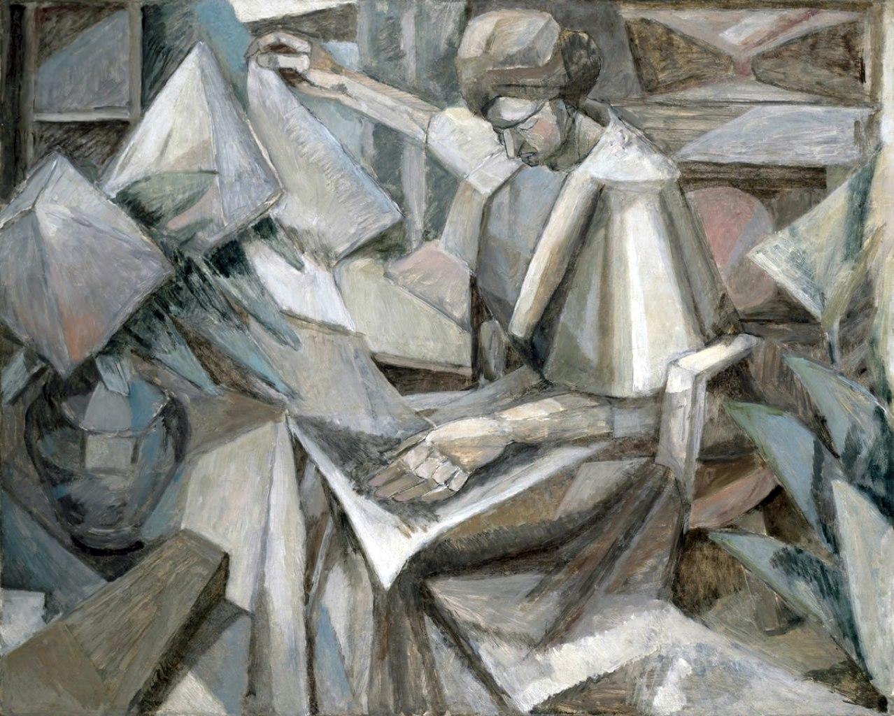 File albert gleizes 1910 femme aux phlox oil on canvas for Albert gleizes